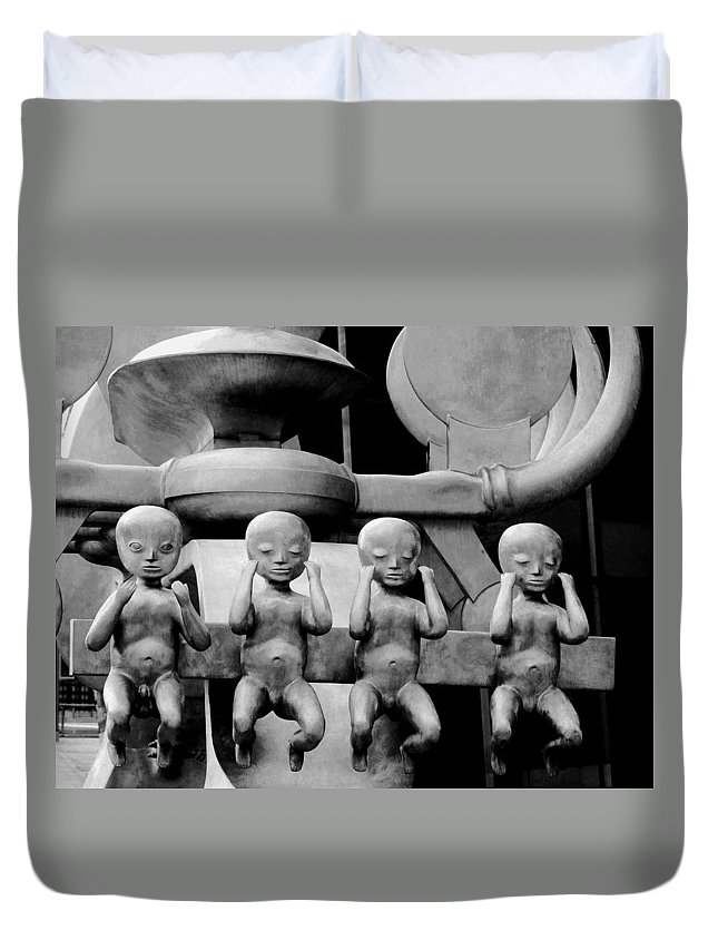Four Duvet Cover featuring the photograph Four For Vienna by Ian MacDonald