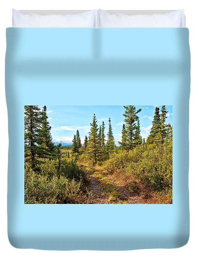 Duvet Cover featuring the photograph Four Wheeler Trail - Richardson Highway by Cathy Mahnke