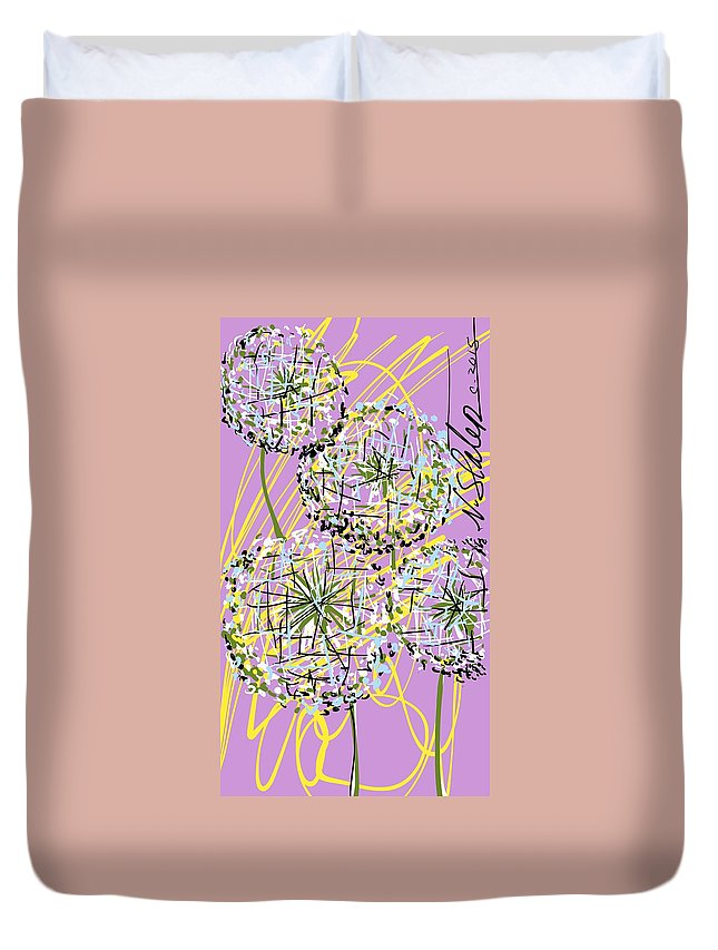 Duvet Cover featuring the digital art Four Wishes by Nicole Slater
