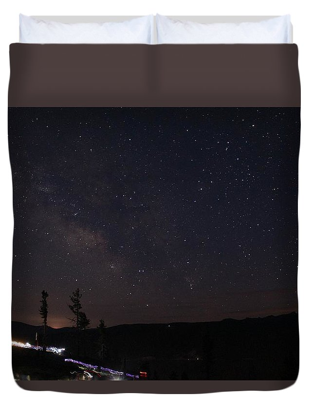 Landscape Duvet Cover featuring the photograph Fourth Of July by Jon Bulotti
