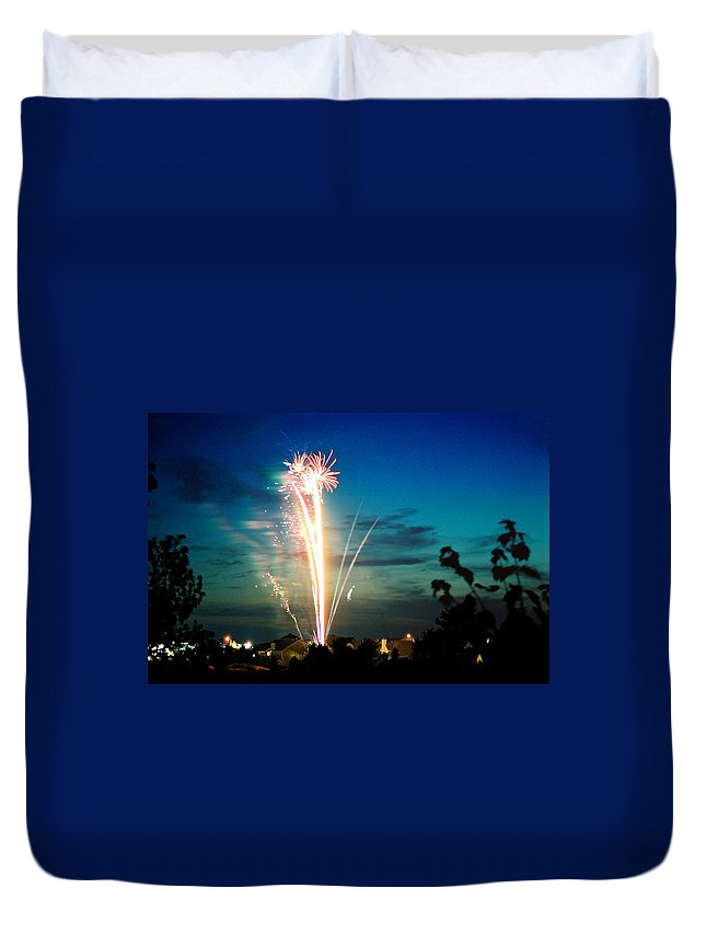 Landscape Duvet Cover featuring the photograph Fourth Of July by Steve Karol