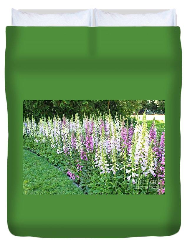 Foxglove Flowers Duvet Cover featuring the photograph Foxglove Garden by Carol Groenen