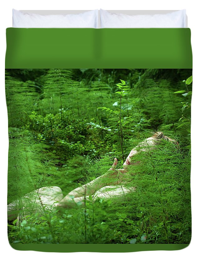 Nature Duvet Cover featuring the photograph foxtail IV by Ricopic