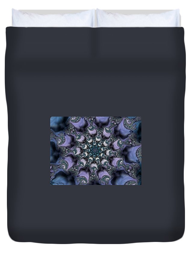Fractal Rose Blossom Nature Life Organic Duvet Cover featuring the digital art Fractal 1 by Veronica Jackson