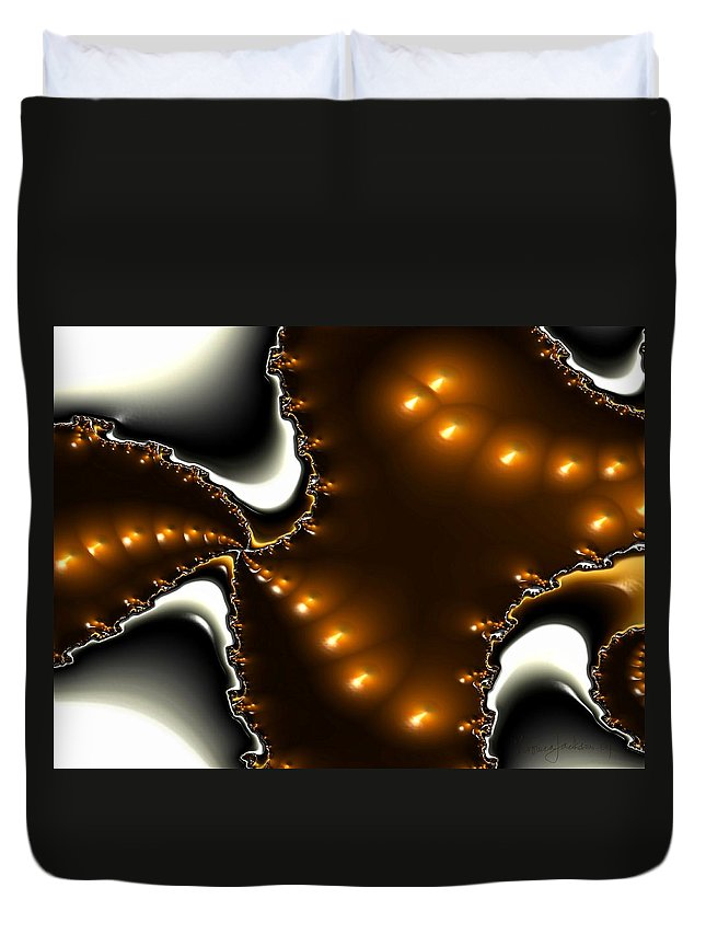 Nest Eggs Fractals Jewels Duvet Cover featuring the digital art Fractal 2 by Veronica Jackson