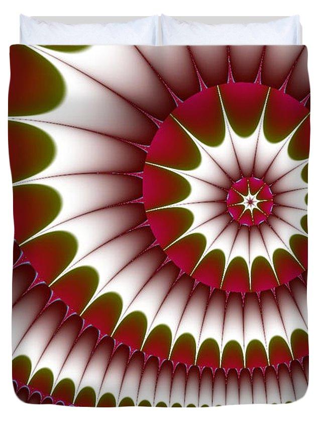 Fractal Digital Art Duvet Cover featuring the digital art Fractal 634 by Charmaine Zoe