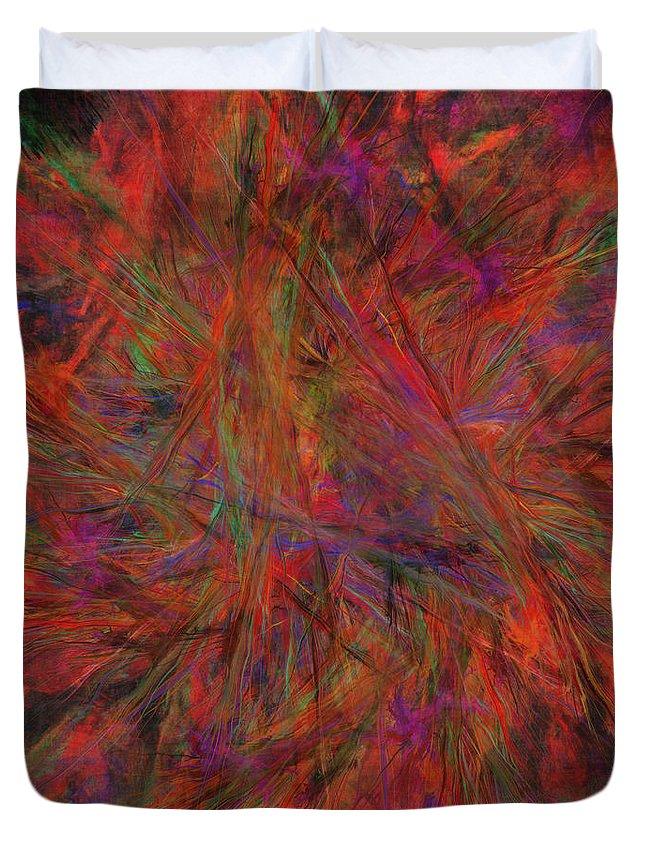 Fractal Duvet Cover featuring the digital art Fractal Burst by Diane Parnell