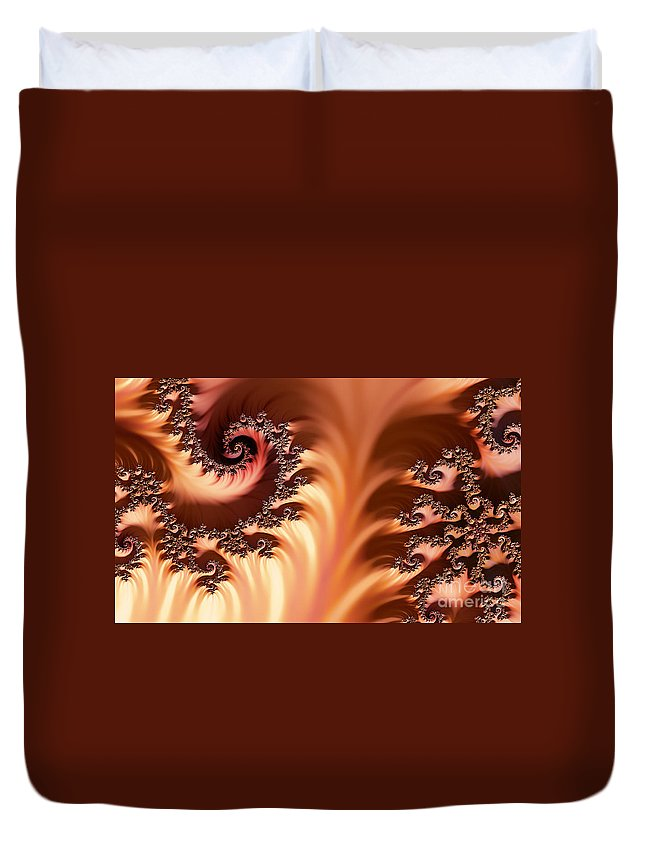 Clay Duvet Cover featuring the digital art Fractal Desert by Clayton Bruster