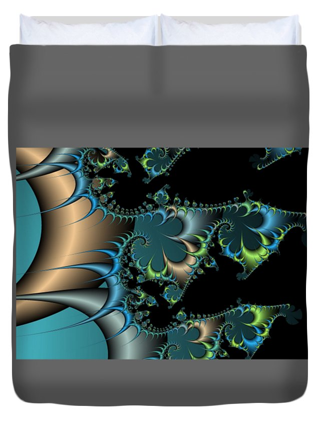Fractal Duvet Cover featuring the digital art Fractal by Frederick Holiday