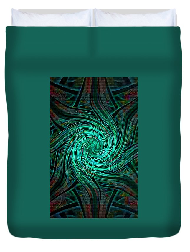 Announcement Duvet Cover featuring the painting Fractalia Seastaria Catus 1 No. 3 V B by Gert J Rheeders