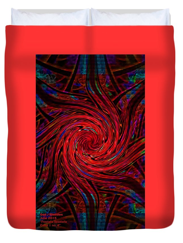 Announcement Duvet Cover featuring the painting Fractalia Seastaria Catus 1 No. 4 V A by Gert J Rheeders