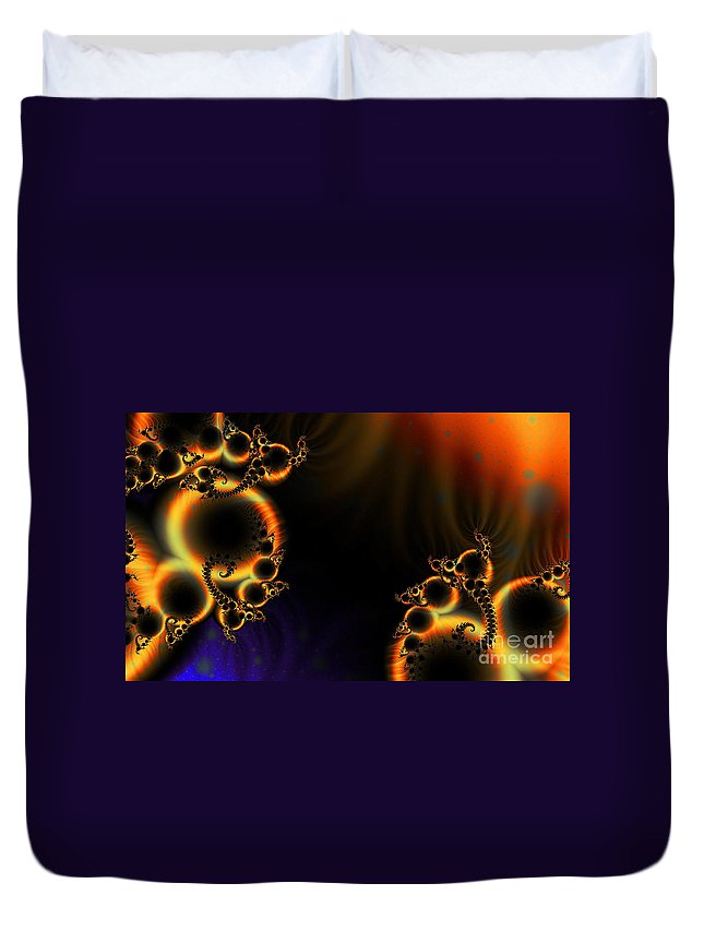 Clay Duvet Cover featuring the digital art Fractalscape I by Clayton Bruster