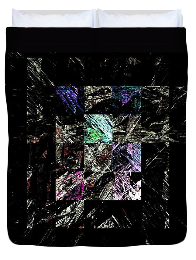 Abstract Digital Painting Duvet Cover featuring the digital art Fractured Fractals by David Lane