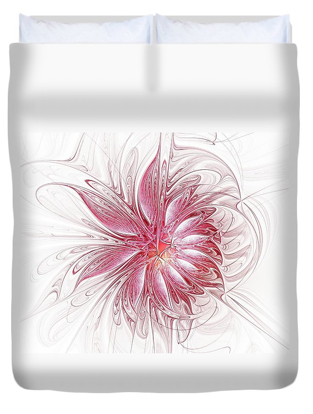 Digital Art Duvet Cover featuring the digital art Fragile by Amanda Moore