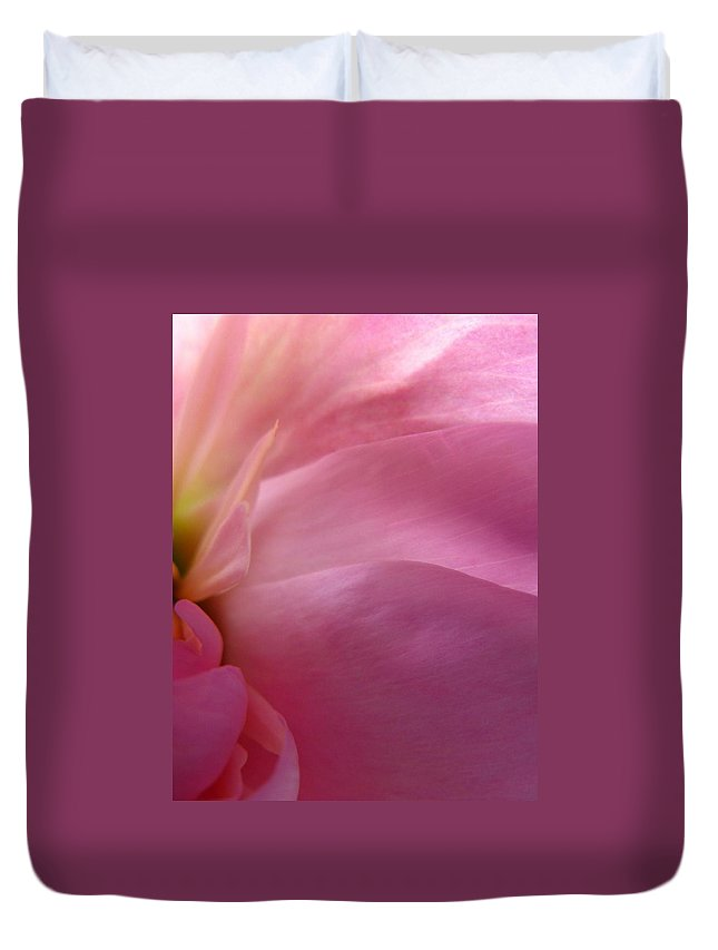 Flower Duvet Cover featuring the photograph Fragment by Rhonda Barrett