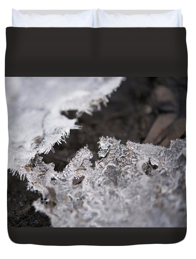 Arlington Massachusetts Duvet Cover featuring the photograph Fragmented Ice by Brian Stricker