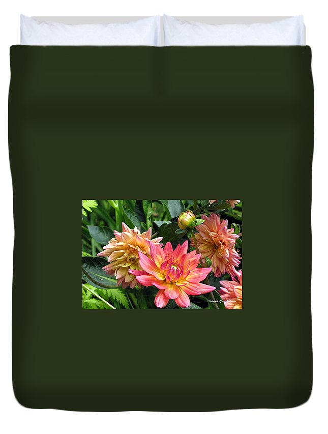 Flowers Duvet Cover featuring the photograph Fragrant Grouping by Deborah Crew-Johnson