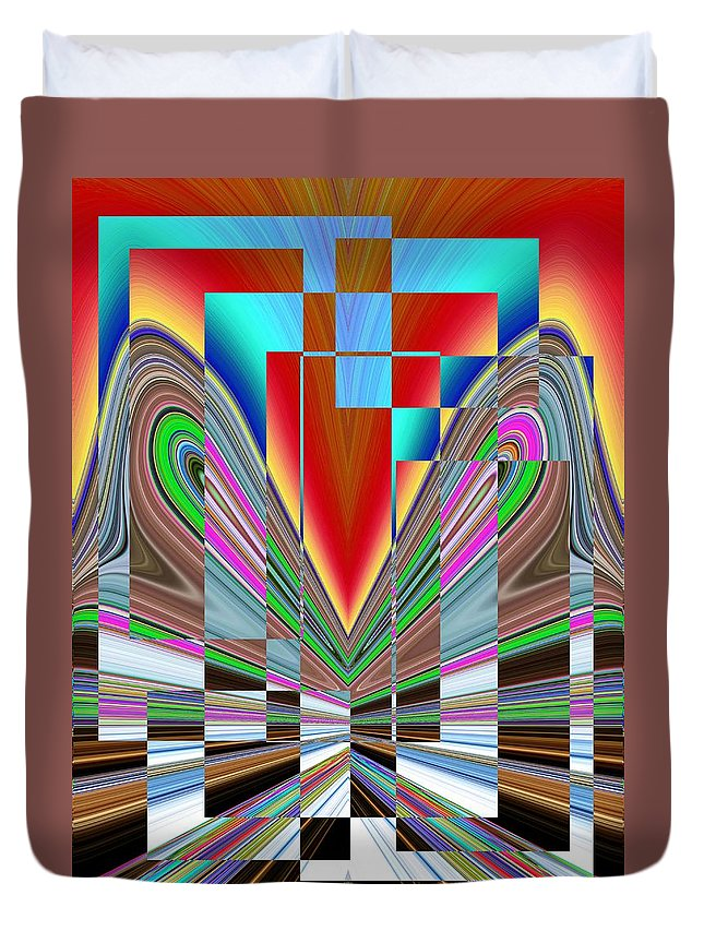 Abstract Duvet Cover featuring the digital art Frame Of Mind by Tim Allen