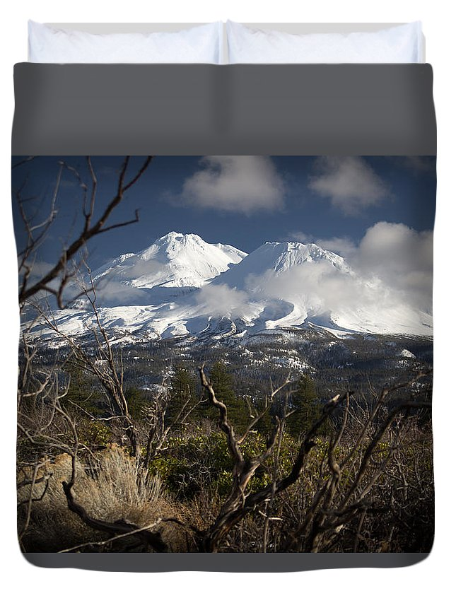 Mt. Duvet Cover featuring the photograph Framed by Marnie Patchett