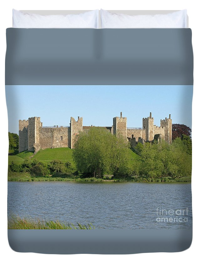 England Duvet Cover featuring the photograph Framlingham Castle by Ann Horn