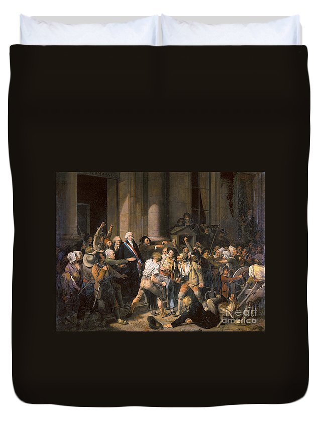 1793 Duvet Cover featuring the photograph France: Bread Riot, 1793 by Granger