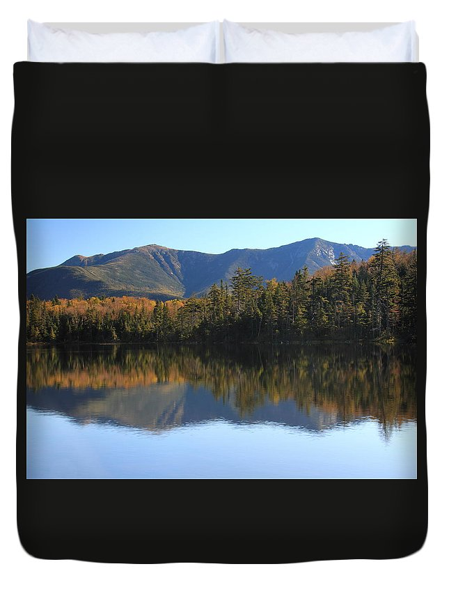 Franconia Ridge Duvet Cover featuring the photograph Franconia Ridge From Lonesome Lake by Roupen Baker
