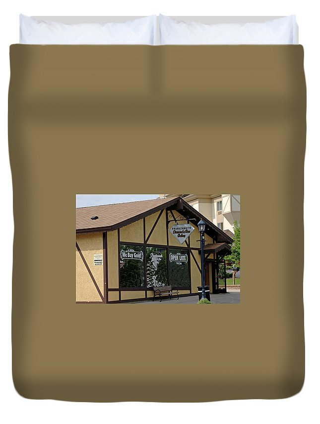 Architecture Duvet Cover featuring the photograph Frankenmuth Diamond And Gem Gallery by LeeAnn McLaneGoetz McLaneGoetzStudioLLCcom