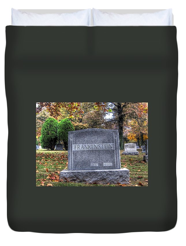 Hdr Duvet Cover featuring the photograph Frankenstein by Jane Linders
