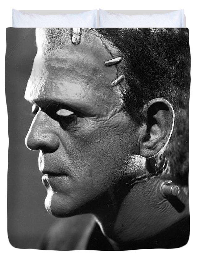 Frankenstein.monster Duvet Cover featuring the photograph Frankenstein by R Muirhead Art