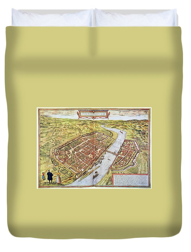 1572 Duvet Cover featuring the photograph Frankfurt, Germany, 1572 by Granger