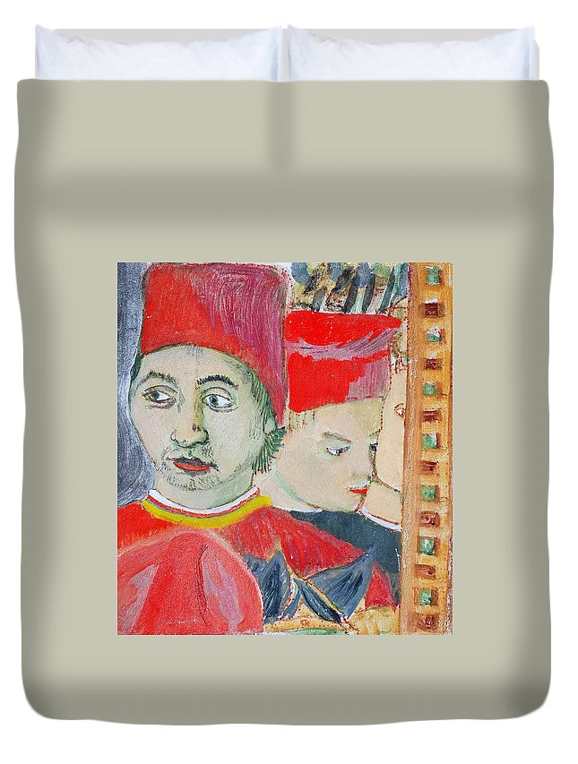 Italian Duvet Cover featuring the painting Fratello by Kurt Hausmann