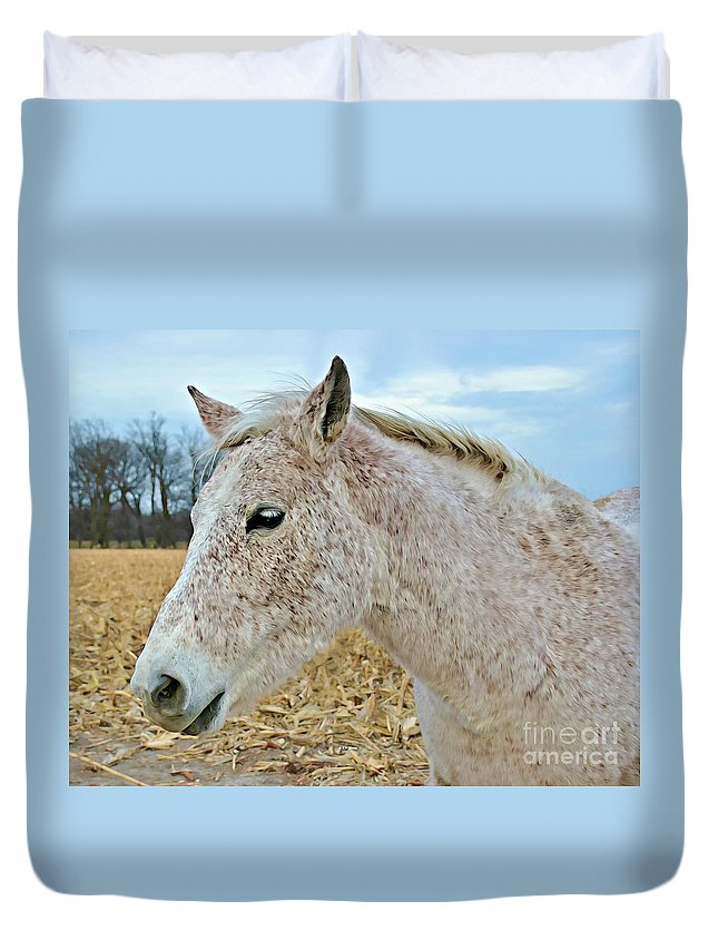 Freckles Duvet Cover featuring the photograph Freckles by Kathy M Krause