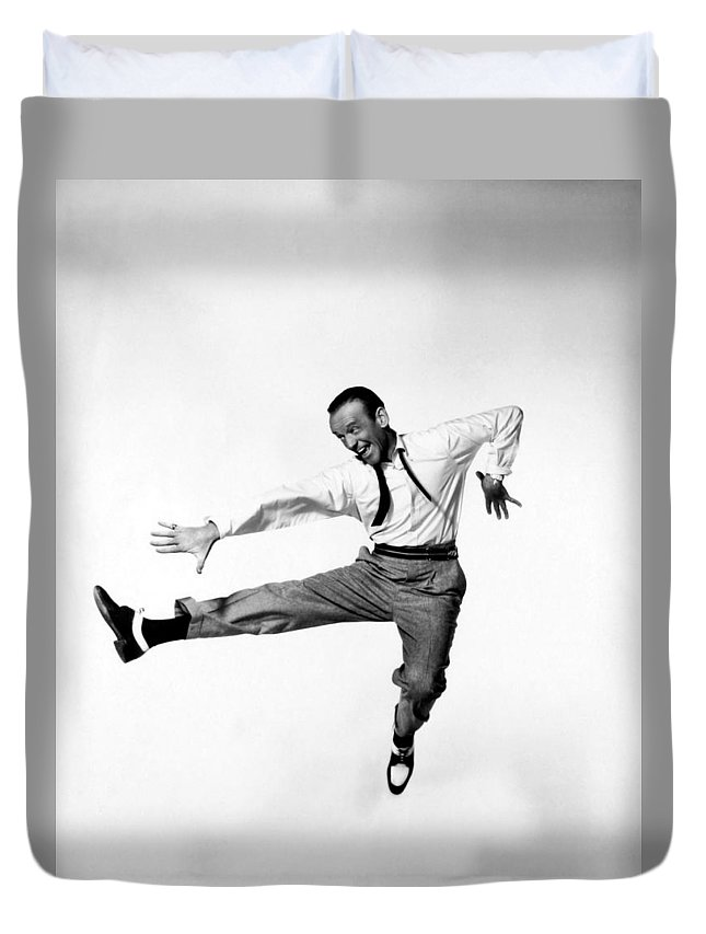 Publicity Photo Duvet Cover featuring the photograph Fred Astaire In Daddy Long Legs 1955 by Mountain Dreams