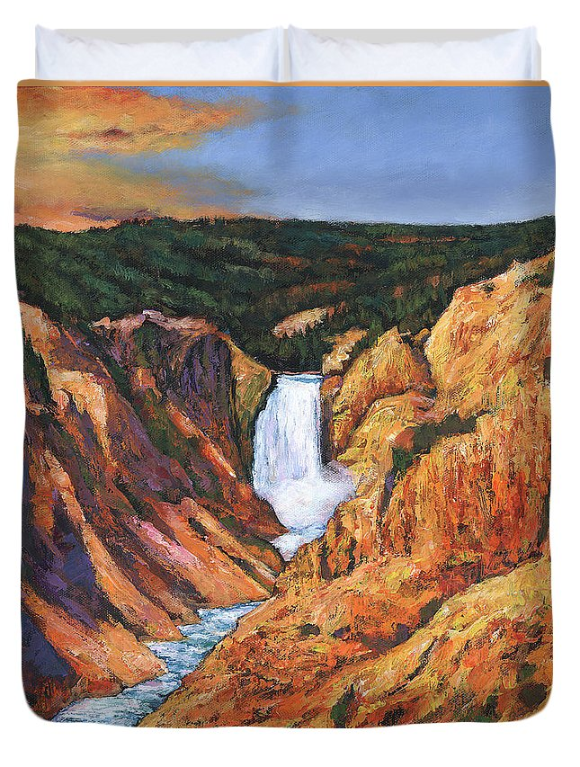 Wyoming Duvet Cover featuring the painting Free Falling by Johnathan Harris