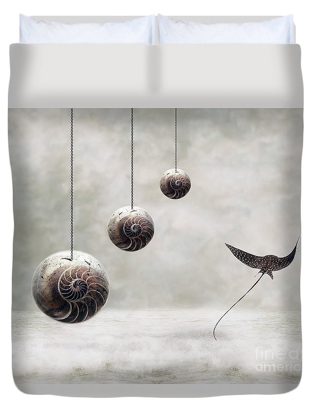 Surrealism Duvet Cover featuring the photograph Free by Jacky Gerritsen