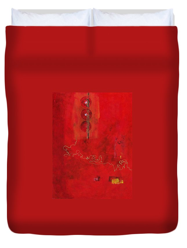 Abstract Expressionism Duvet Cover featuring the painting Free Spirit 007 by Donna Frost