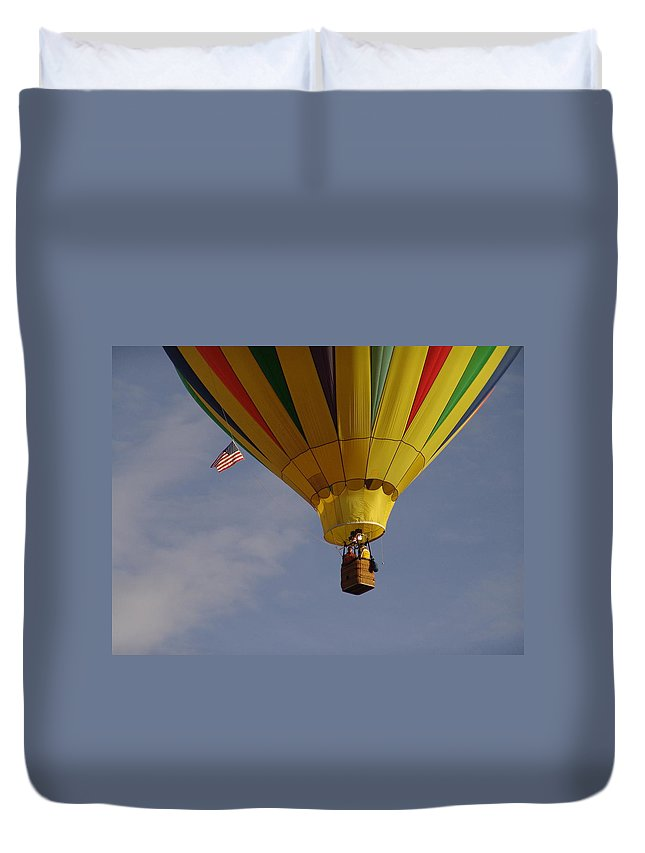 Balloon Duvet Cover featuring the photograph Freedom by Carol Milisen