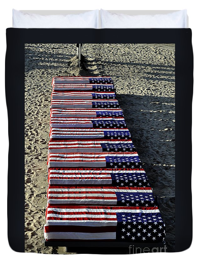 Clay Duvet Cover featuring the photograph Freedom Costs by Clayton Bruster