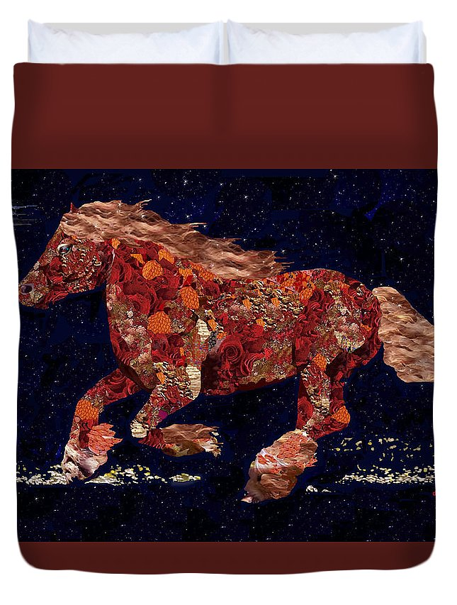 Horse Duvet Cover featuring the photograph Freedom by Dede Shamel Davalos