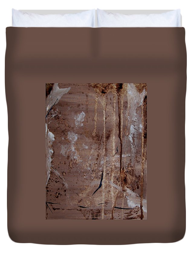 Abstract Duvet Cover featuring the painting Freedom Of Expression II by Ruth Palmer