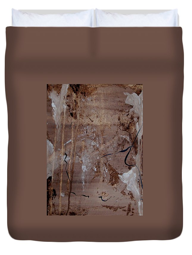 Abstract Duvet Cover featuring the painting Freedom Of Expression by Ruth Palmer