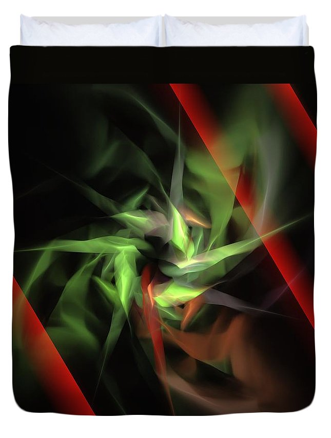 Digital Painting Duvet Cover featuring the digital art Freedom Vs Oppression by David Lane