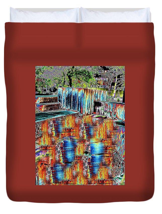 Freeway Park Duvet Cover featuring the digital art Freeway Park 8 by Tim Allen