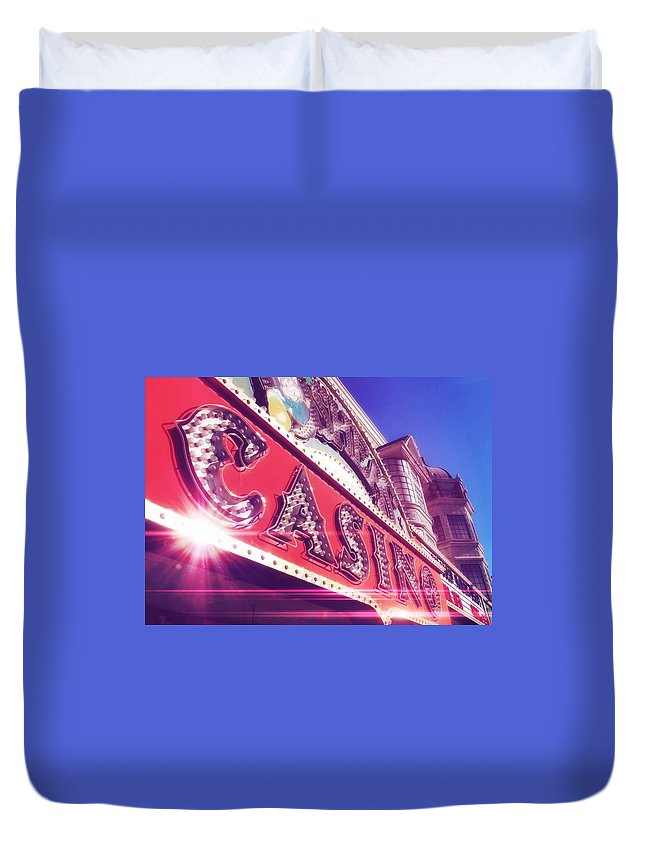 Vegas Duvet Cover featuring the photograph Fremont By Day by JAMART Photography