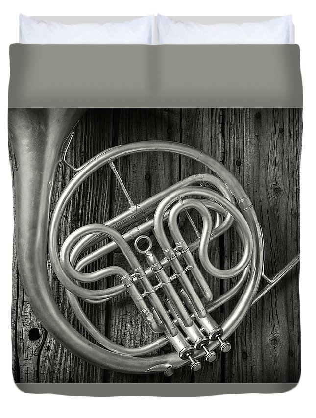French Duvet Cover featuring the photograph French Horn 2 by Garry Gay