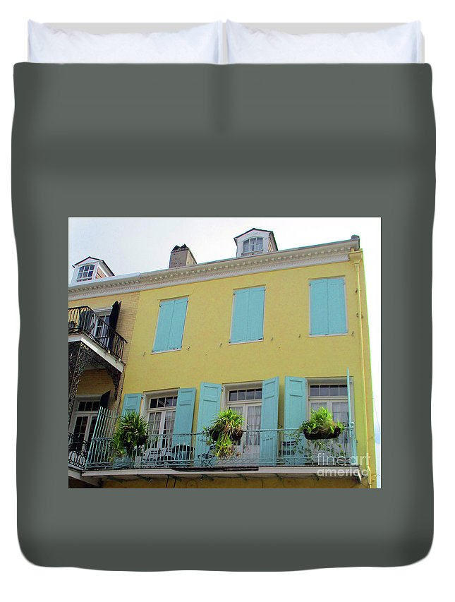 French Quarter Duvet Cover featuring the photograph French Quarter 20 by Randall Weidner