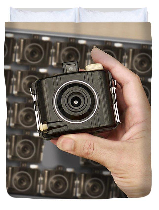 Vintage Kodak Brownies Duvet Cover featuring the photograph Fresh Brownies by Mike McGlothlen