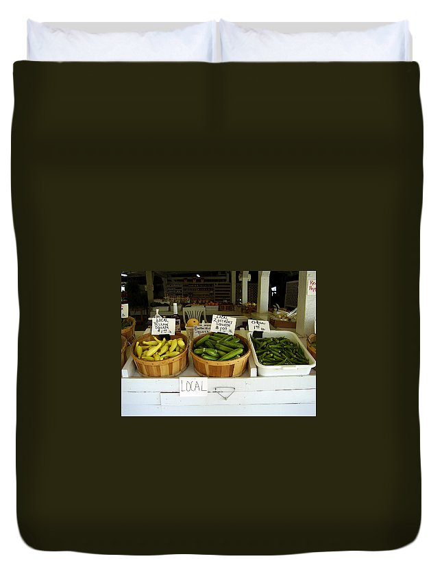 Fresh Produce Duvet Cover featuring the photograph Fresh Produce by Flavia Westerwelle
