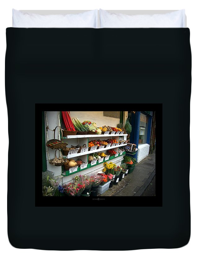 Shaftesbury Duvet Cover featuring the photograph Fresh Produce by Tim Nyberg