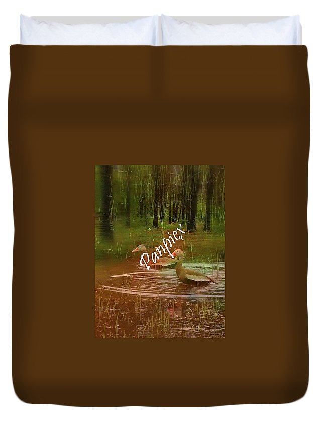 Water Duvet Cover featuring the photograph Frolicking by Priscilla Richardson
